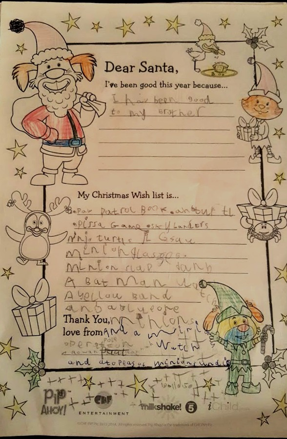 Letters to Father Christmas - Rowan